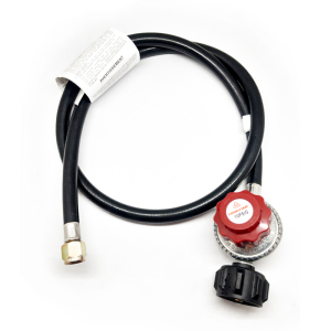 LONGTIME 0-10 PSI Adjustable High Pressure LPG Gas Cylinder Regulator for Fire Pit Heater Stove