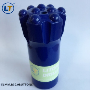 R32 45mm/51mm thread rock drill button bit for limestone,granite quarry, mining and construction tools