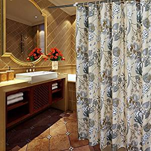 Buy Welwo Water Repellent Waterproof Fabric Shower Curtain Liner Set