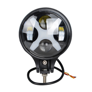 6 inch 60W Led Fog Light Round Driving Day Light Spotlight 12V24V Headlight For Jeep 4x4 4WD Offroad With X Angle Eyes lights