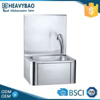 Kitchen Equipments Commercial Stainless Table Steel Corner Sink With Sink