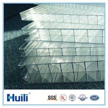 Polycarbonate Transparent Roofing Sheet Honeycomb Structure High Impact