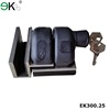 Gatehouse sliding door lock for gate lock