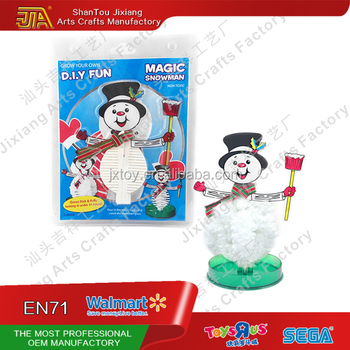 Christmas Decor Magic Paper Snowman