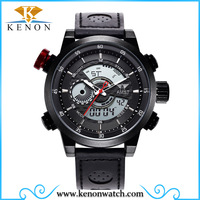AMST stainless steel watch fashion digital calendar day date mens watch