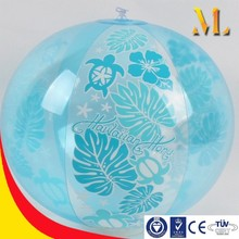 inflatable ball PVC beach ball custom logo 18'' transparent beach ball