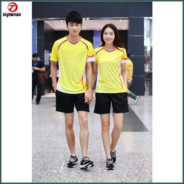 2015 wholesale Couple's jersey designs for badminton jersey badminton wear