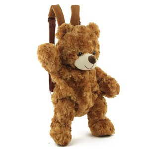 Cute Bear Design Plush Little Children Backpack