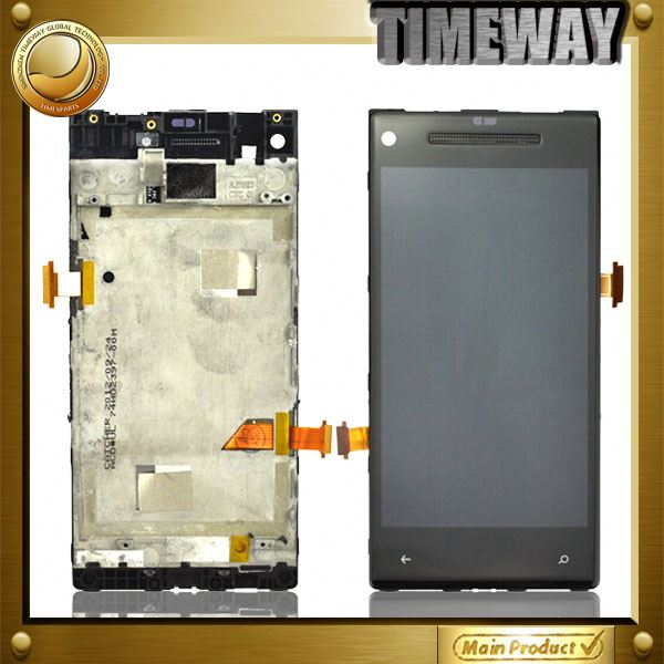 "China Supplier for htc windows phone 8x lcd digitizer assembly for ""for htc windows 8x""(with frame)"