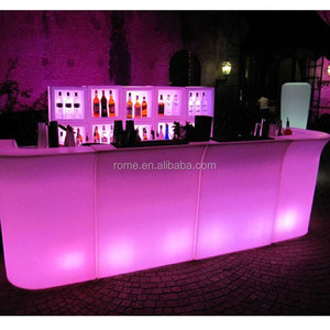 Led bar counter outdoor furniture/ lighted bar counter with 16 colors change