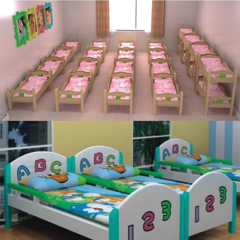 Excellent quality antique kids furniture cheap double children bed