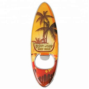 Custom Offset Printing Silver Metal Surfboard Bottle Opener