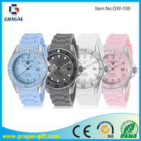 Colorful quartz silicone watch