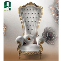 Cheap price custom latest antique throne king chair