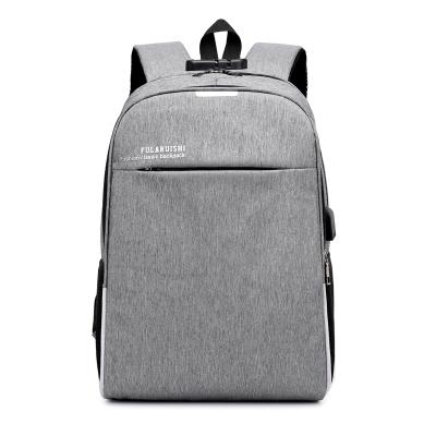 2019 Baigou Fabrik Heißer Verkauf Student Oxford Wasserdichte 15,6 Zoll USB Ladegerät Diebstahl Rucksack Tasche
