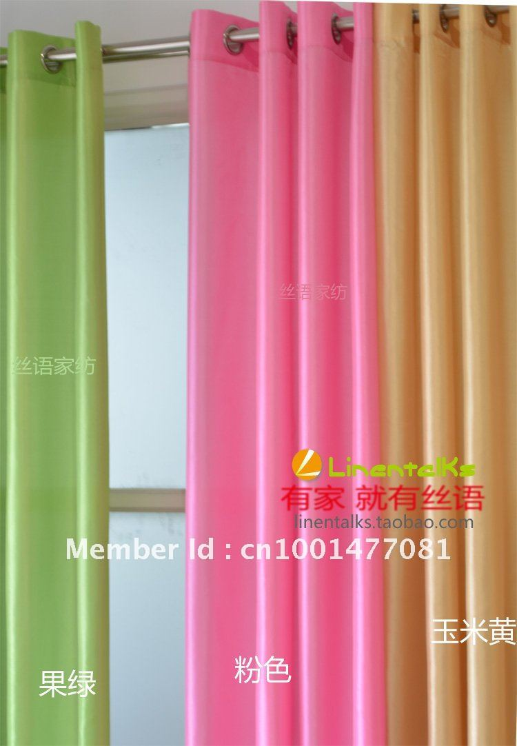 Ready made europe gauze curtain 8 kinds of color to choose - How to pick curtains for living room ...