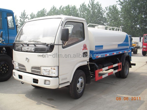 2015 New DongFeng 4X2 water tanker truck 5m3./truck mounted water well drilling rig