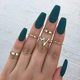 5Pcs/Set Punk Gold Stack Plain Band Finger Knuckle Rings Set Mid Finger Ring Thin Ring Fashion Gold Jewelry Sets Women Cheap