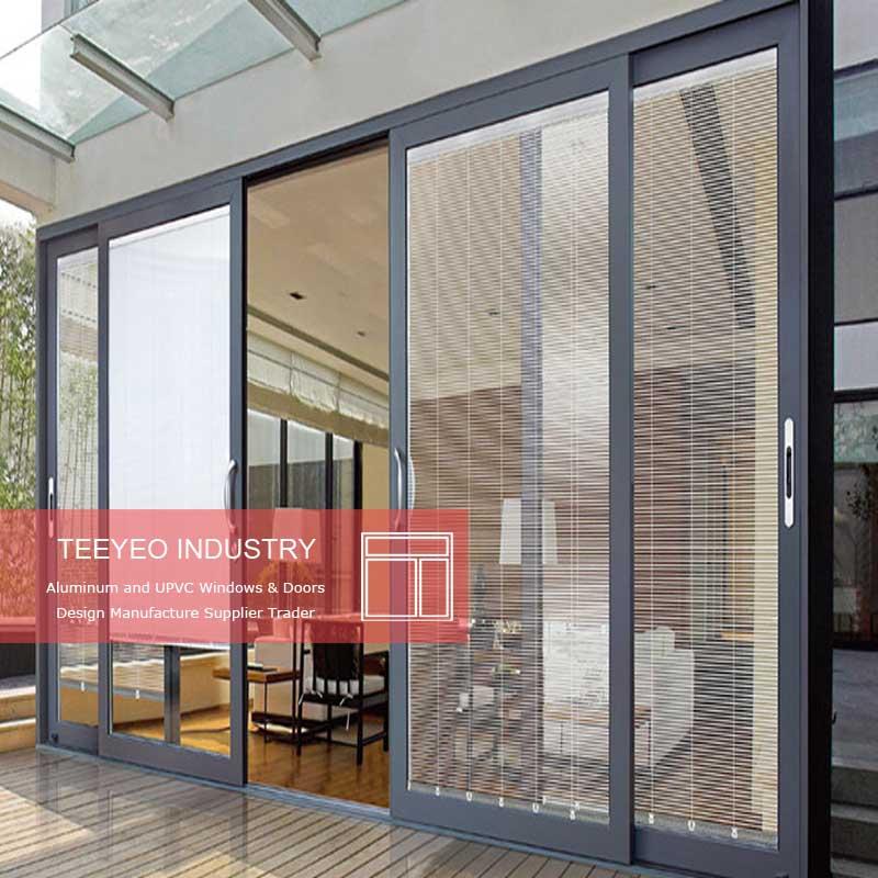 Teeyeo Commercial Aluminum Frames Sliding Glass Window And Door Aluminium Frame