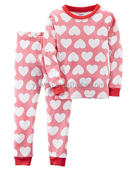 Yawoo High quality kids outfits for children pajamas boys and girls soft cotton pajamas set