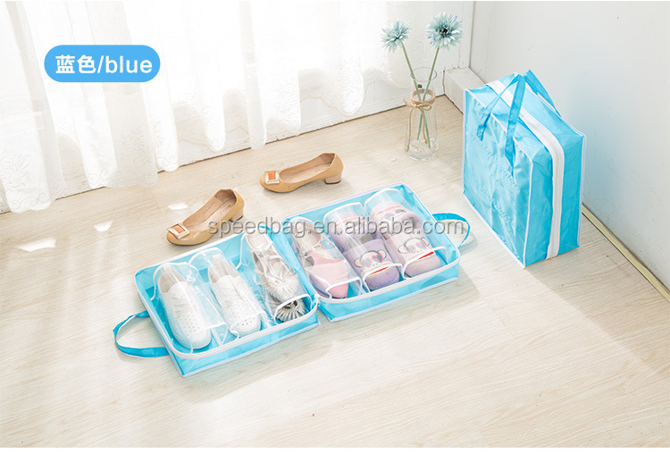 Large capacity portable shoes bag travel shoes storage bag foldable shoes bag