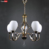 Chrome iron glass incandescent luminaire incandescent luminaire chandelier for Europe countries