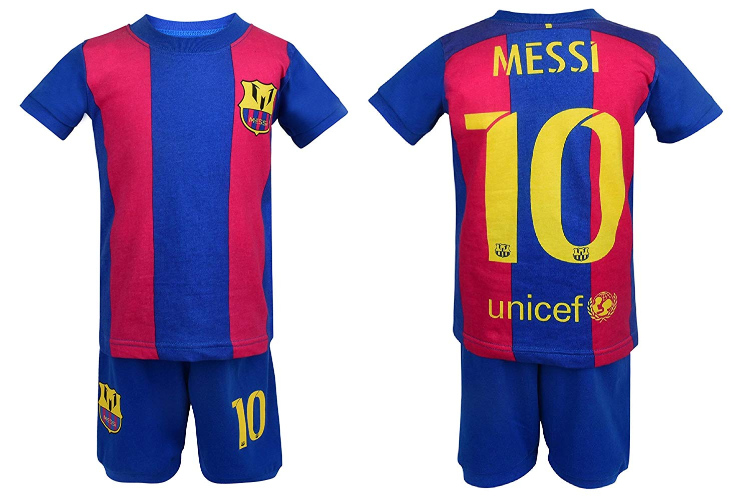 Get Quotations · Soccer PJs Barcelona Messi 10 Pajama ✓ Barca Messi  10  Soccer t-shirt   75fe983ac