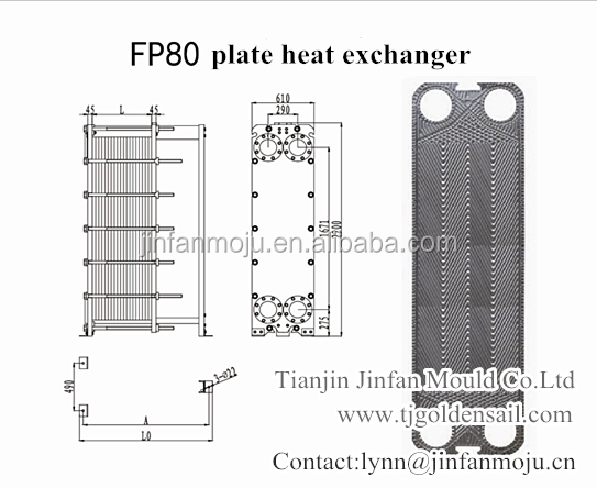 Funke Fp80 Plate For Plate Heat Exchanger In Oil Cooler Swimming Pool Water Cooler Chiller China