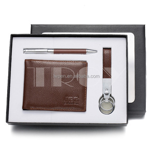 ball pen wallet keychain promotional gift set
