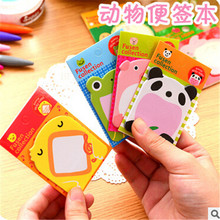 Brand New Arrival Self Adhesive Animals Stationary Lovely Cute Design Memo Pads Sticky Notes Sticker Label Paper   2.6