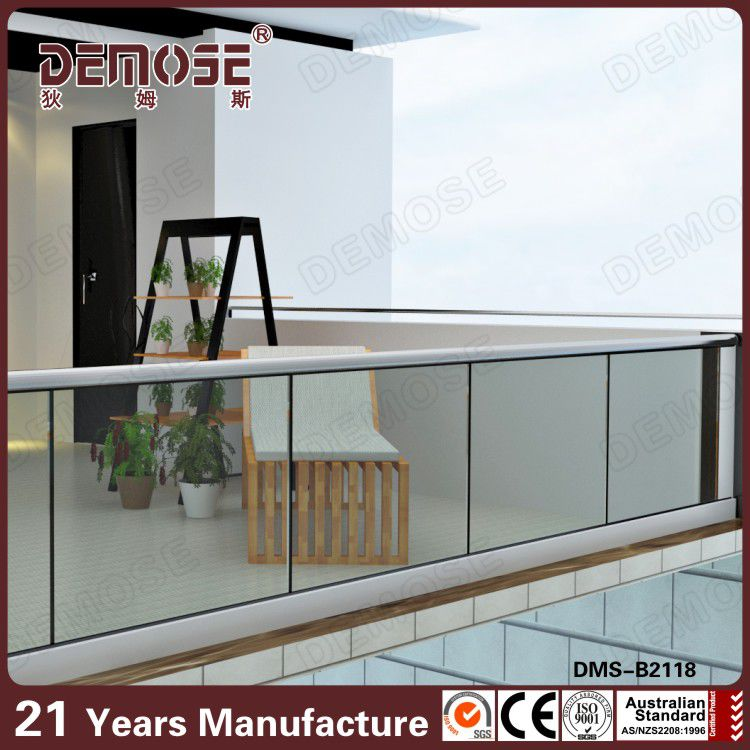 Frameless Glass Railing for stair
