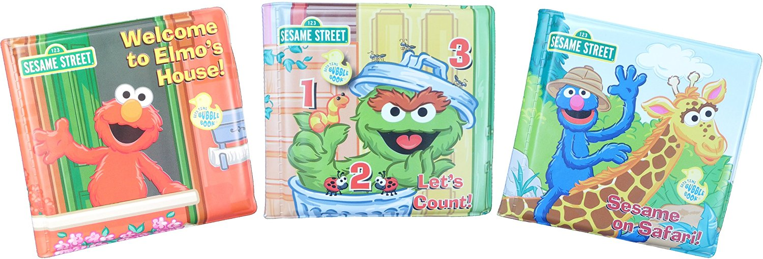 Get Quotations Sesame Street Elmo S World Bath Time Bubble Books Featuring Set
