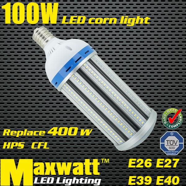led e40 100w led corn light e26 e27 e39 e40 100w corn bulb lamp replace 400w cfl hps lamps for. Black Bedroom Furniture Sets. Home Design Ideas