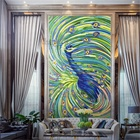 CS-ANM18 Beautiful Glass Mosaic Wall Tile Peacock Mural
