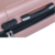 ABS fancy nude pink suitcase travel trolley set airplane wheels luggage cases with factory price