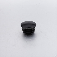 F-110-X Black pp threaded end cap / rubber insert end bung/ 28mm pipe end plug