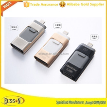 Promotional usb flash drive 16gb/32gb/64gb for iphone , document viewer for all major file formats
