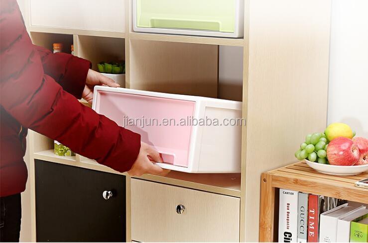 Ucuz fiyat renkli istiflenebilir Plastik saklama çekmeceli dolap kutusu