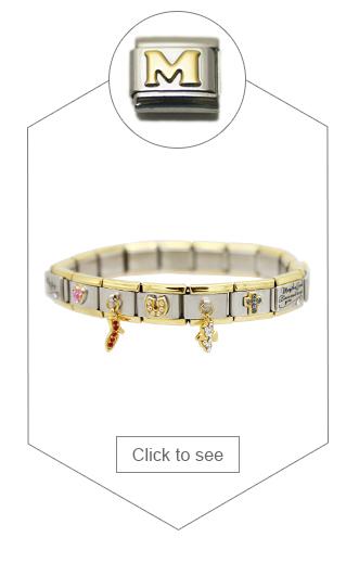 Name red heart laser Linda fits 9mm classic Italian charm bracelets