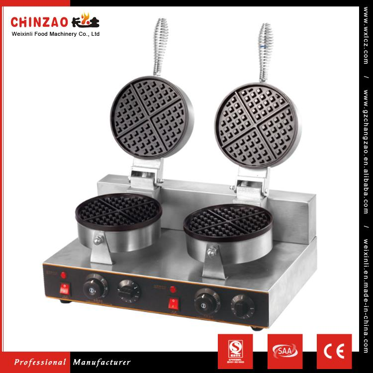 CHINZAO Popular Products In Usa 1Kw+1Kw Liege Waffle Maker