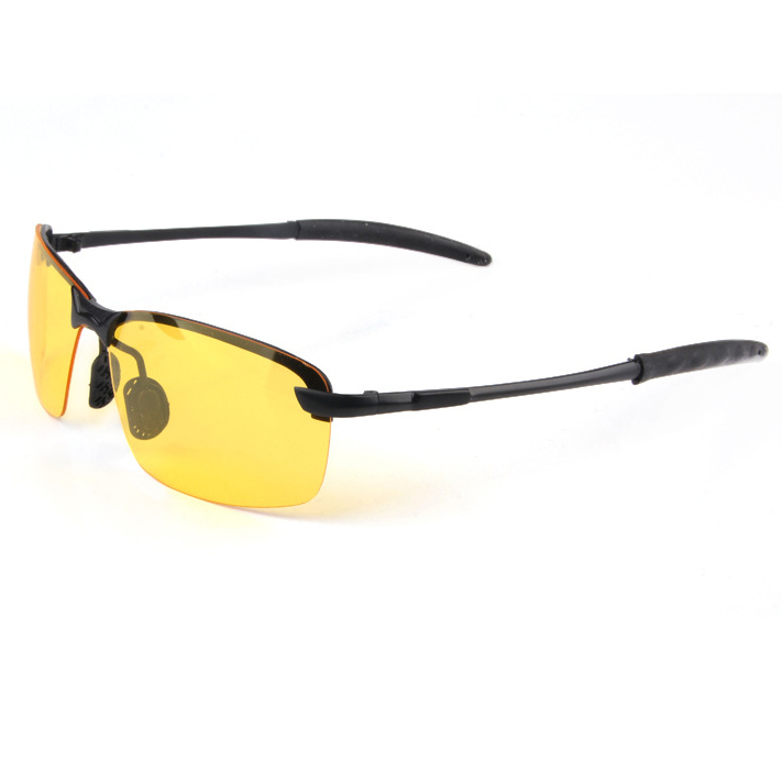 New arrival Plastic Resin HD High Definition Night Vision Polarized Glasses Driving Yellow Lens Classic Aviator UV400 CC0008