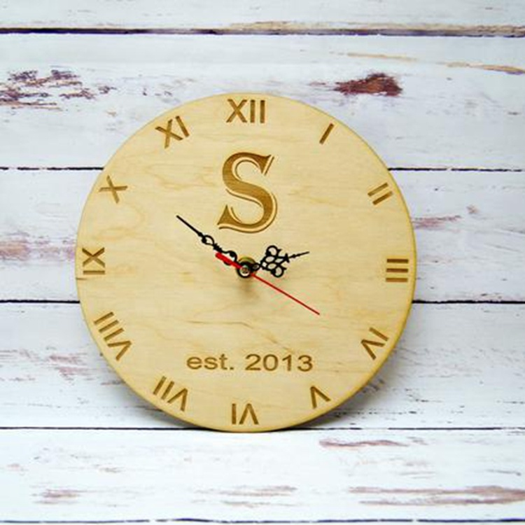 wall clock wood modern wood clock