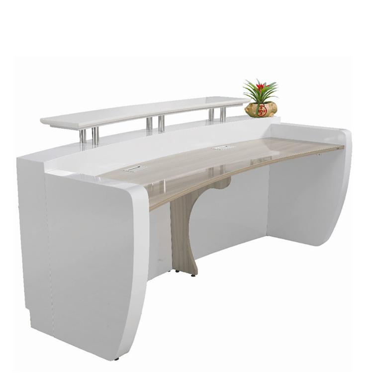 Branco moderno balc o de recep o de mobili rio de for Mobiliario de escritorio fabricantes