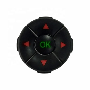 Waterproof navigation push button switch with 5-way tactile switch integrated LED