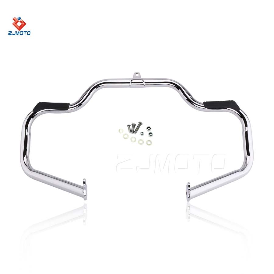 Strong Mustache Chrome Engine Guard For motorcycle Deluxe Softail Flitn Highway Crash Bar 00-17