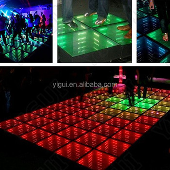 steel glass mirror dance floor sale 3d dance floor lighting effects