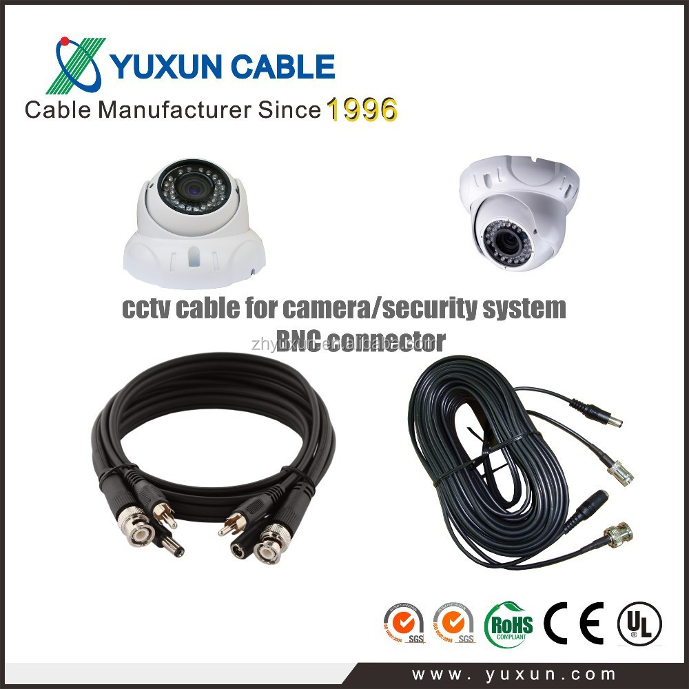 Guangdong High quality RG59 premade cctv cable for camera