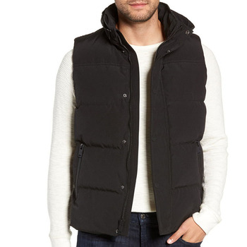 Fashion Wholesale Custom Man Down black Vest with pockets