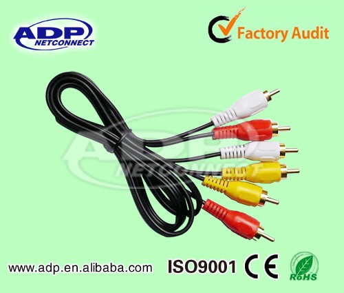 2017 Wholesale ADP usb female to rca male cable to firewire cable with 2rca 3rca