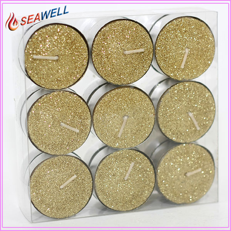 Candles Factory Direct Price Round Small Glitter Tea light Candle